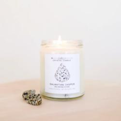 Shop ReAwaken | Dalmatian Jasper Crystal Candle - Balance | JaxKelly