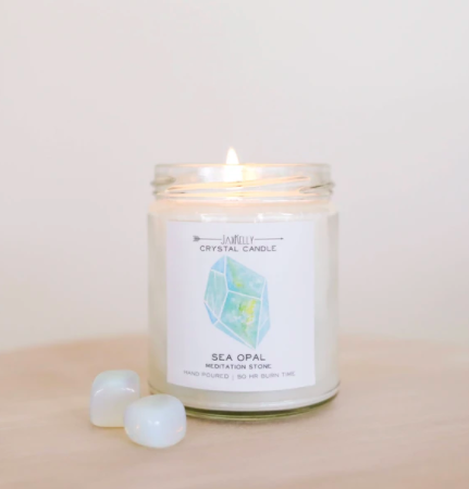 Shop ReAwaken | Sea Opal Crystal Candle - Meditation | JaxKelly